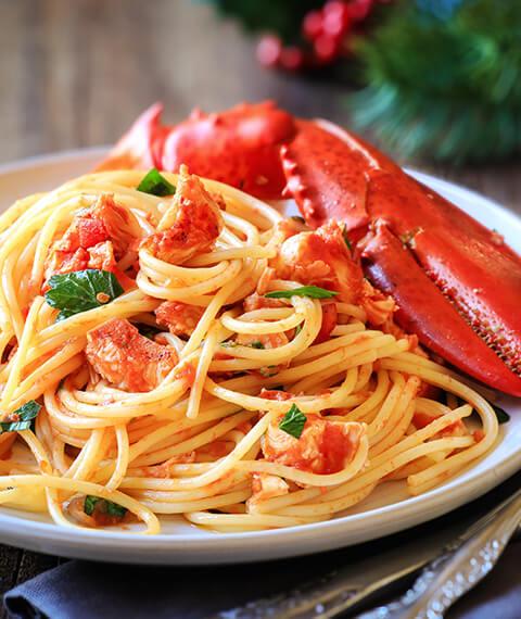 Spaghettone di Gragnano all'astice